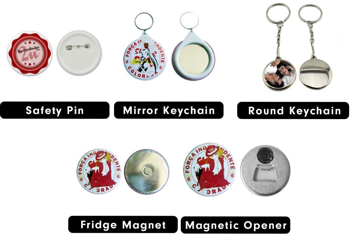 Button Badge Printing Types of Badges