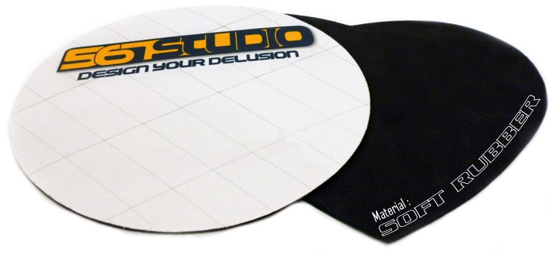 Mousepad Printing - Full color heat transfer printing on Fabric + Soft Rubber.