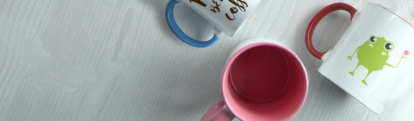 Create personalised mugs online with Printcious.com using your digital photos.