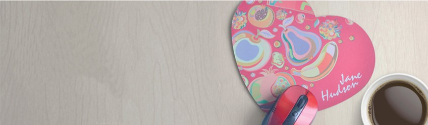 Create personalised mousepads online with Printcious using your digital photos.