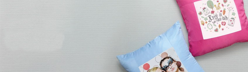 Create personalised cushions online with Printcious using your digital photos.