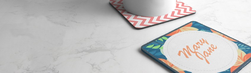 Create personalised coasters, photo coasters, online with Printcious.com using your digital photos.