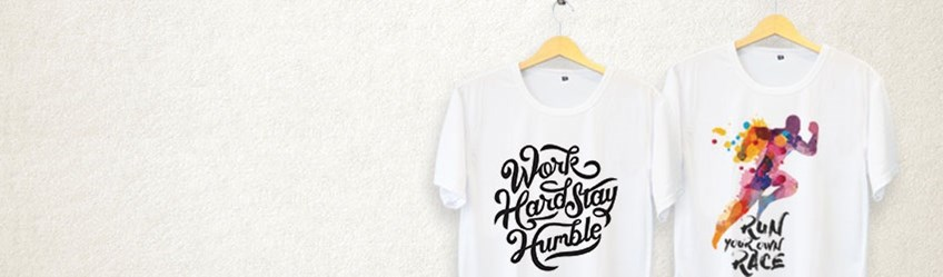 Create personalised t-shirts online with Printcious.com using your digital photos.