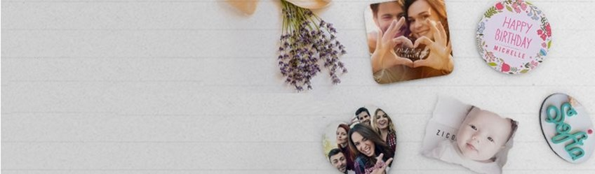 Create personalised magnets online with Printcious.com using your digital photos.