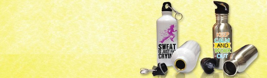 Create personalised sport flasks online with Printcious Gifts.com using your digital photos.