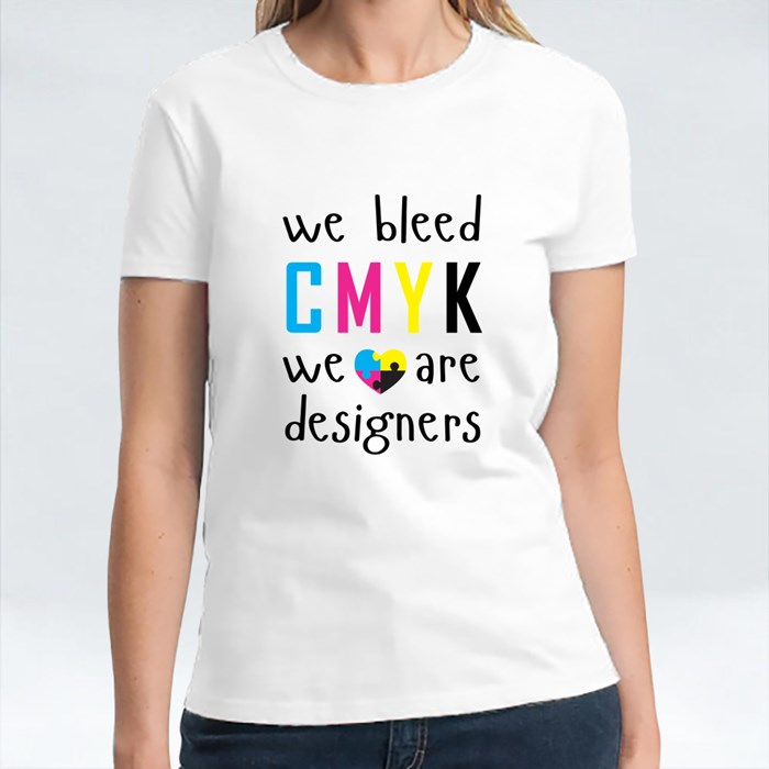 We Bleed Cmyk With Heart T-Shirts