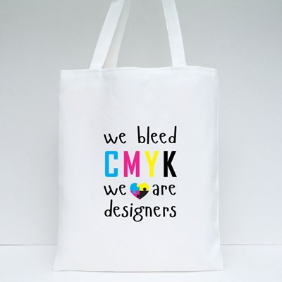 We Bleed Cmyk With Heart Tote Bags
