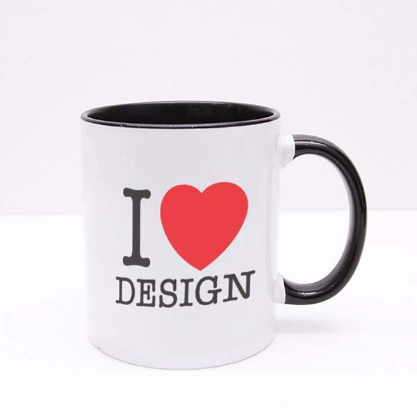 I Love With Heart Colour Mugs