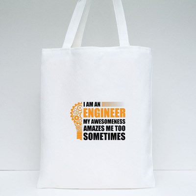 My Awesomeness Amazes Me Too Tote Bags