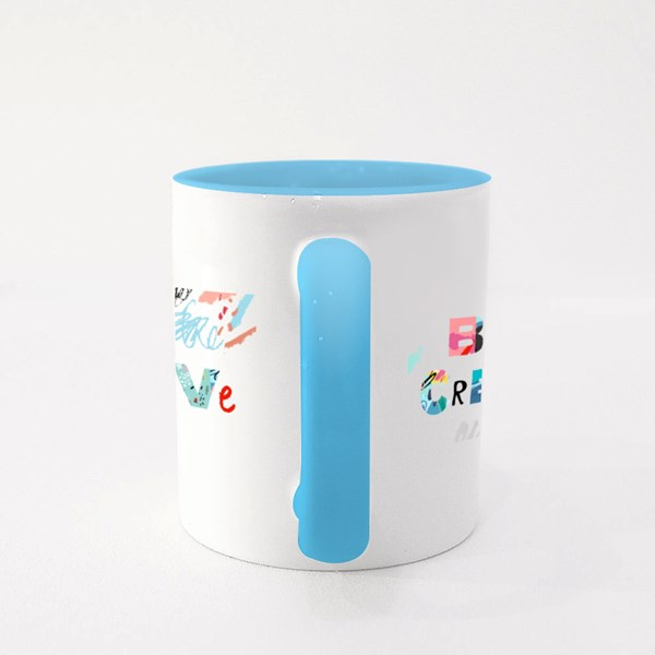 Be Creative With Pattern Colour Mugs