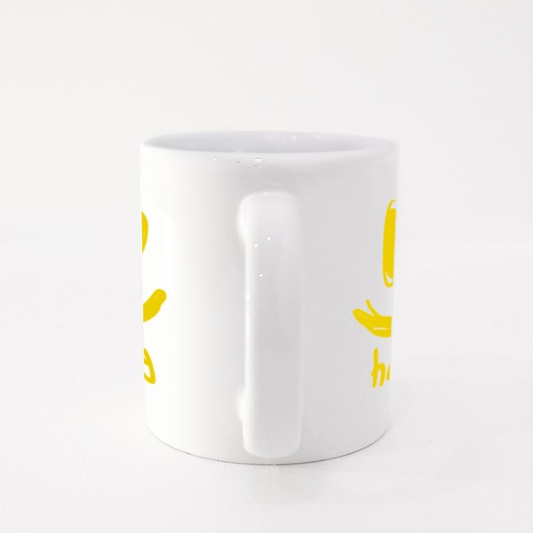 Happy Face Hand Drawing Colour Mugs