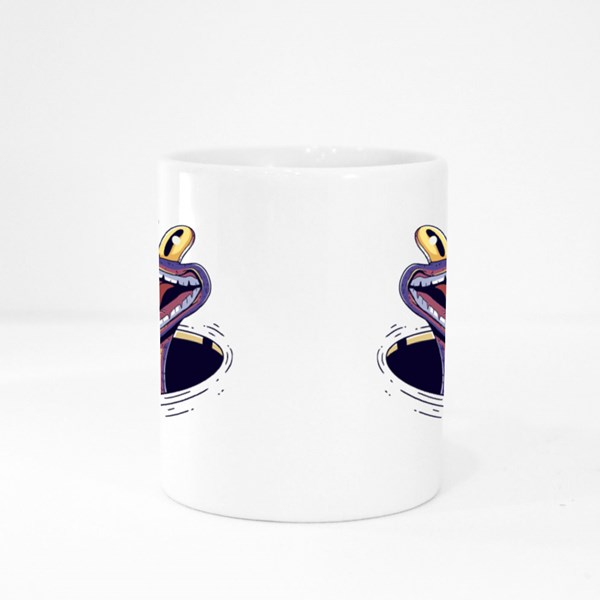 Bird in Crocodile Mouth Colour Mugs