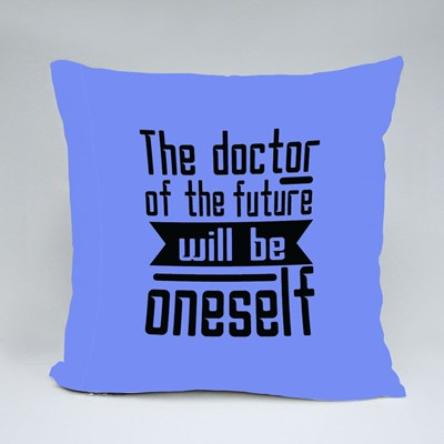 The Doctor of the Future Throw Pillows
