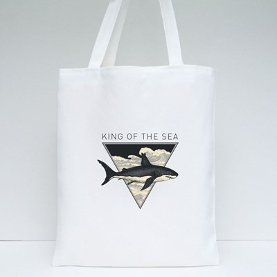 King of the Sea Tote Bags