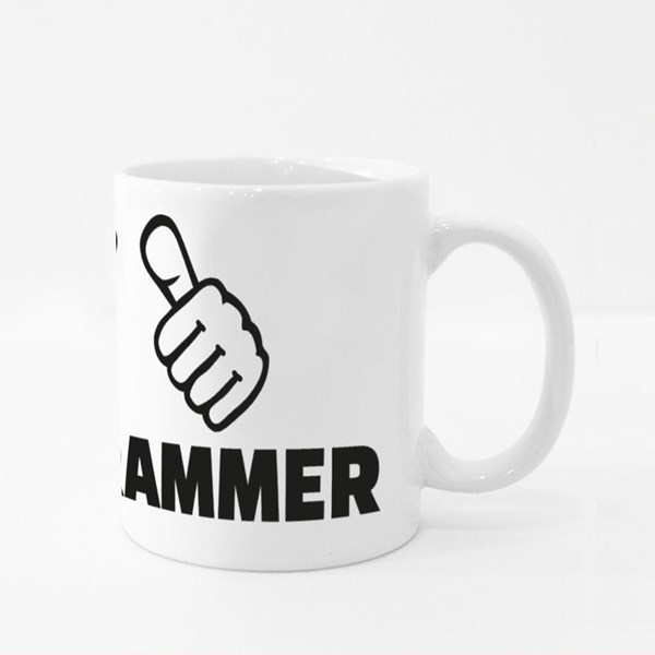 Programmer With Thumbs Colour Mugs