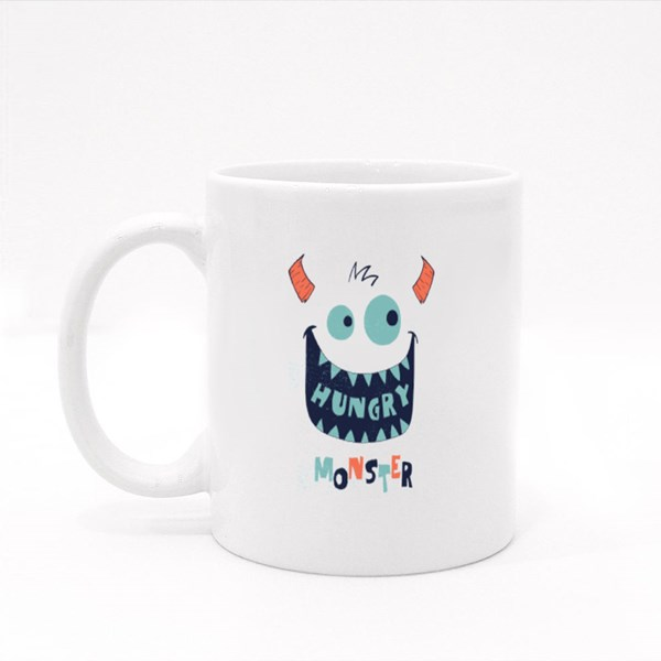 Cute Monster Face Colour Mugs