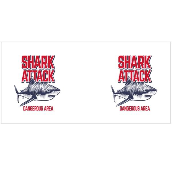 Shark Attack Dangerous Area Colour Mugs