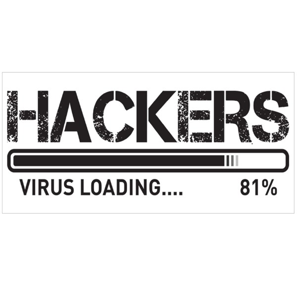 Hackers  With Virus Loading Colour Mugs