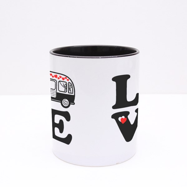Love Camping in Nature Colour Mugs