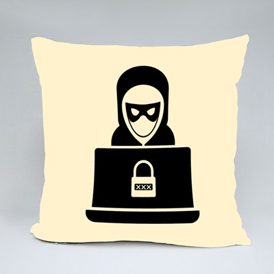 Theft and Network Security Throw Pillows
