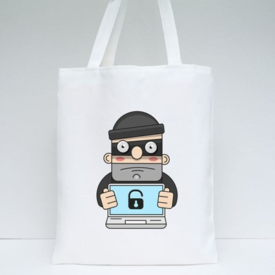 Cute Thief Character Tote Bags