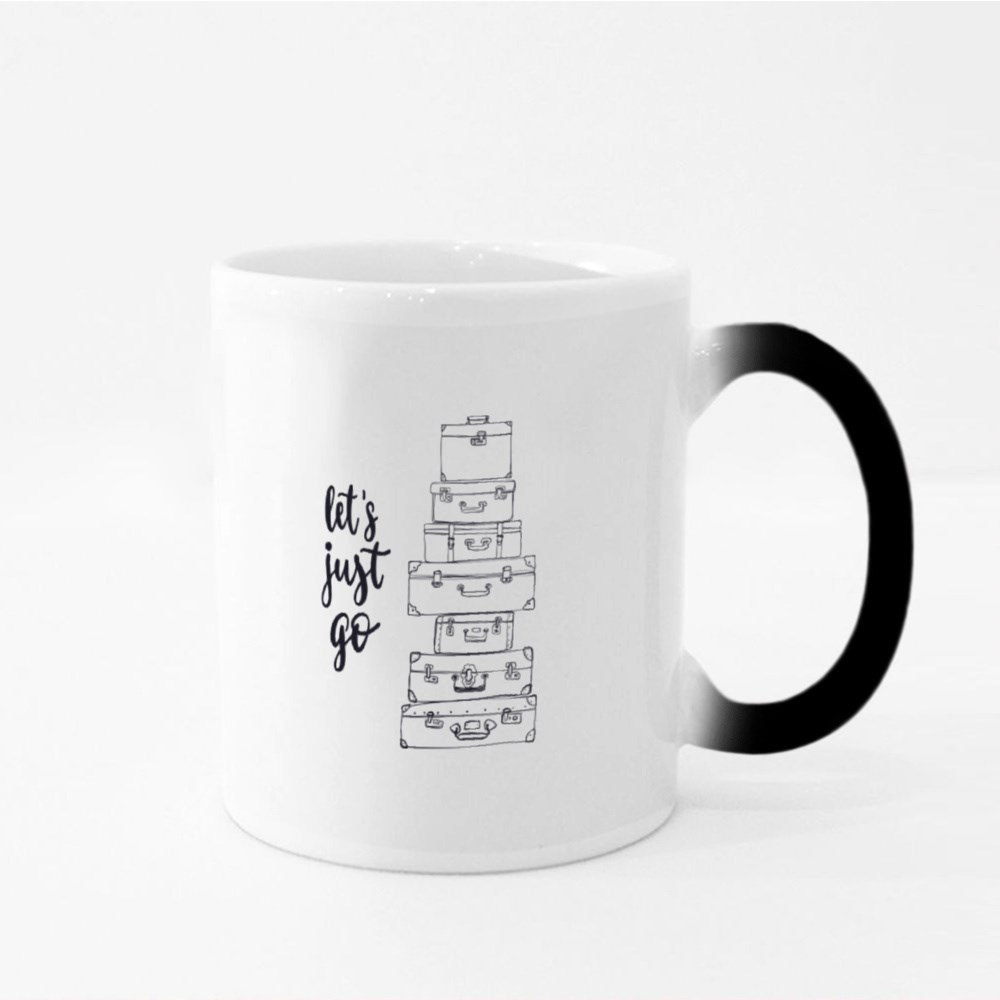Let's Just Go Traveling Quote Magic Mugs