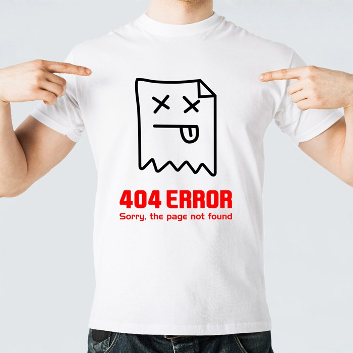 404 Error. Page Not Found T-Shirts