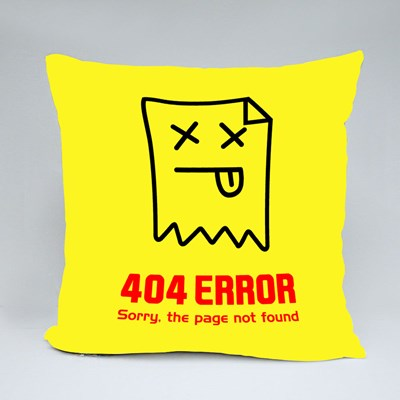 404 Error. Page Not Found Throw Pillows