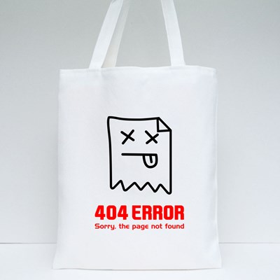 404 Error. Page Not Found Tote Bags