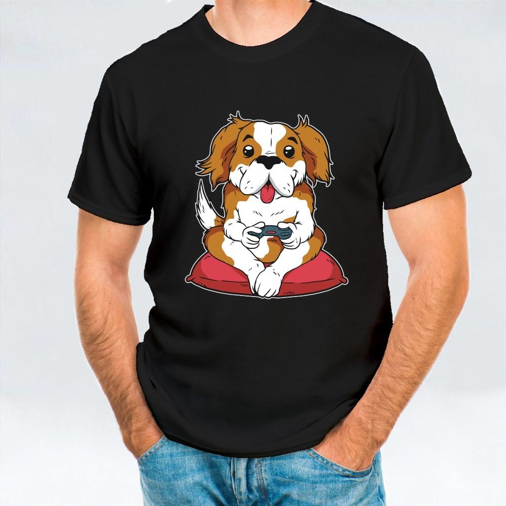 Dog Gamer Playing Videogames T-Shirts