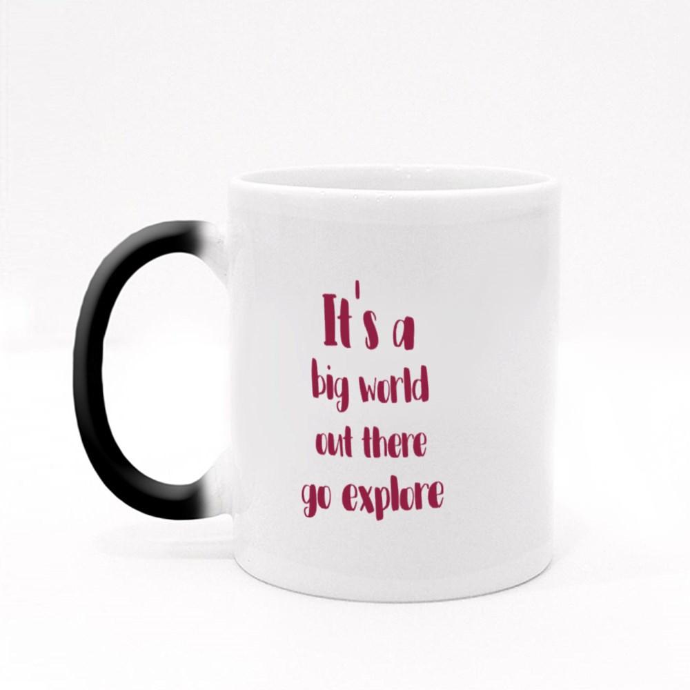 It's a Big World Out There Magic Mugs