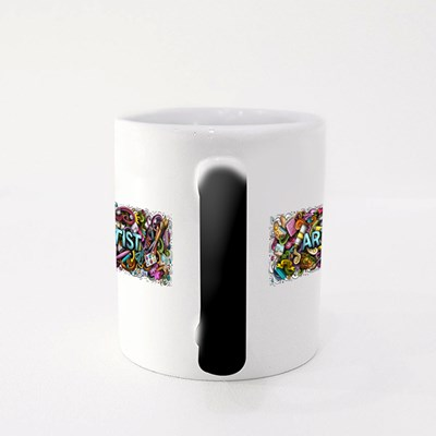 Artist With Doodle Style Magic Mugs