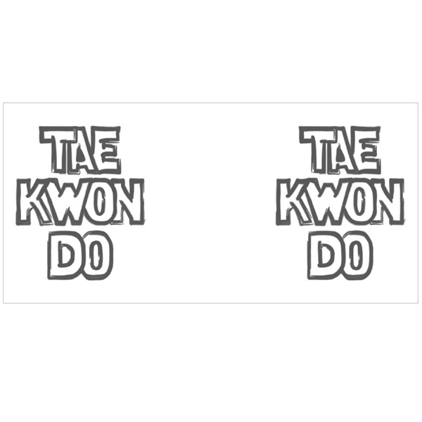 Tae Kwon Do Letters Colour Mugs