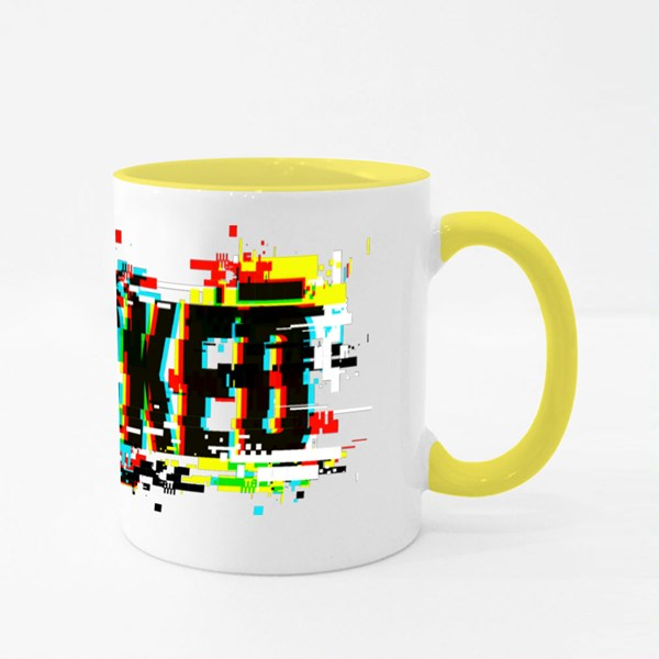 Hacked With Glitch Colour Mugs