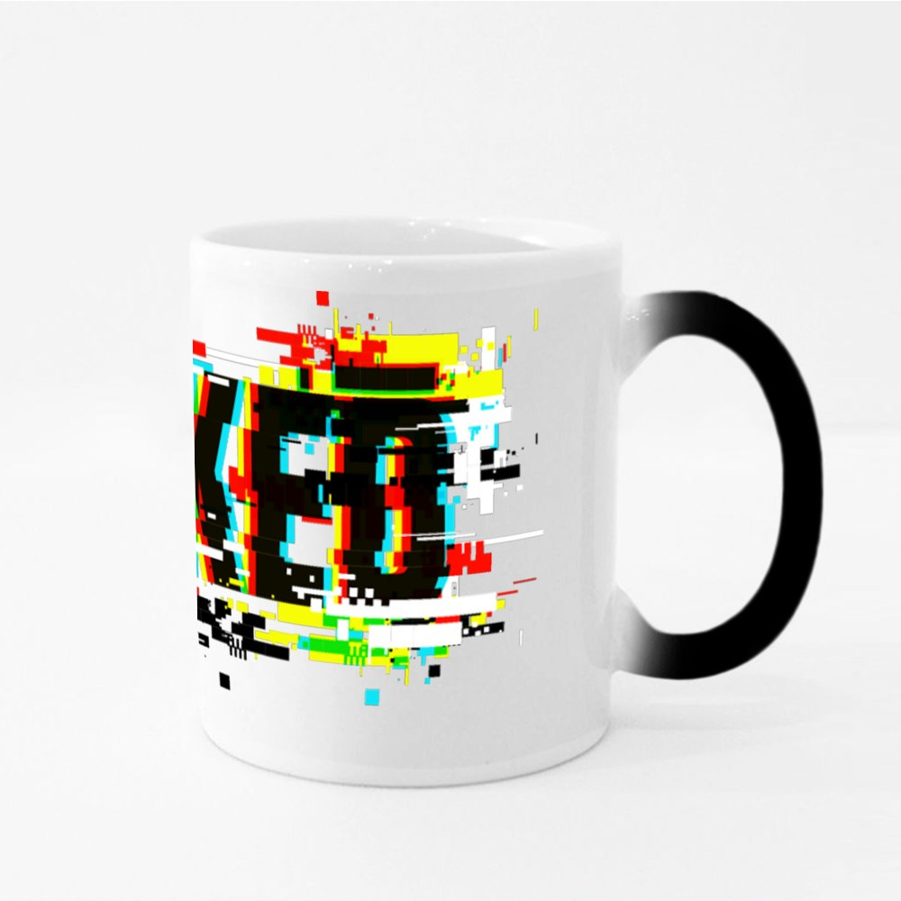 Hacked With Glitch Magic Mugs