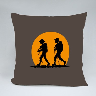 Couples Traveling Buddies Throw Pillows