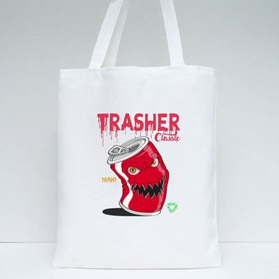 Angry Soda Cans Tote Bags