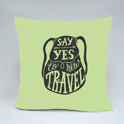 Say Yes to New Travel Throw Pillows