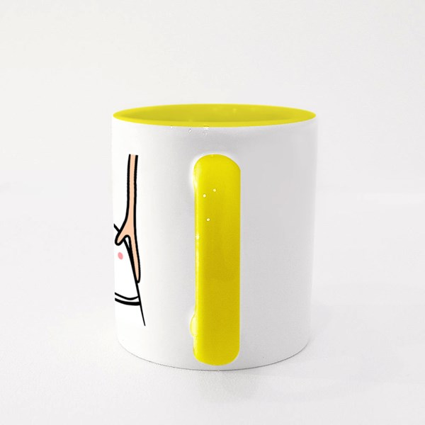 Hands Around Head Colour Mugs