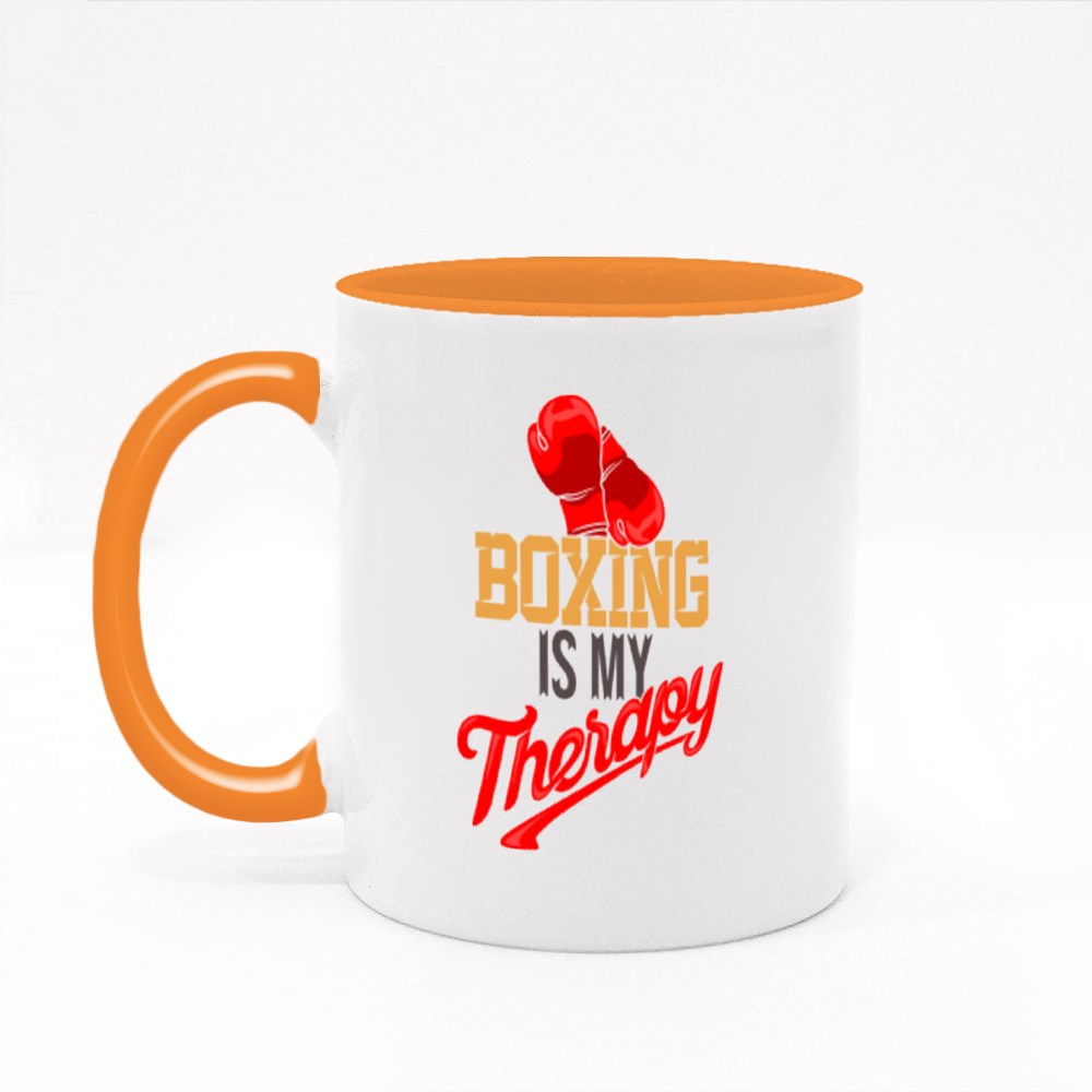 Boxing Is My Therapy Colour Mugs