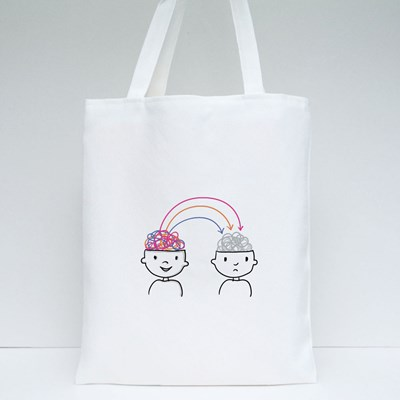 Transfers Positive Feelings Tote Bags