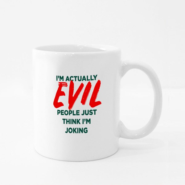 Actually Evil Joke Colour Mugs