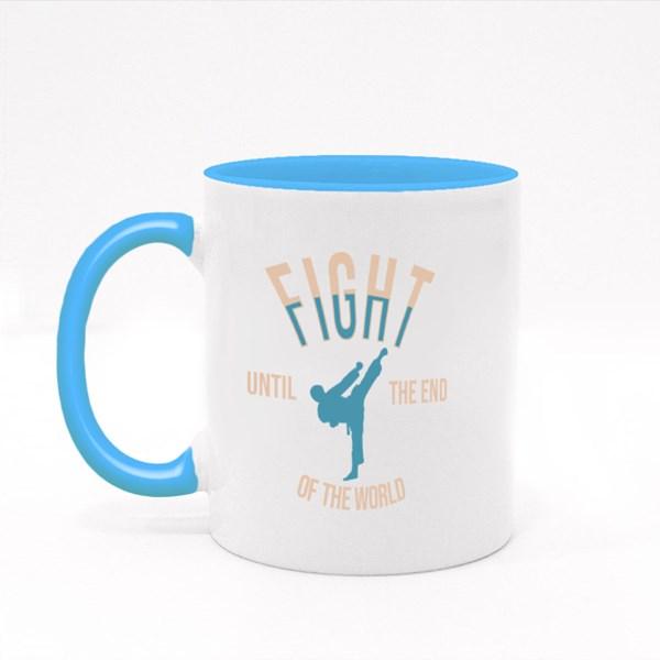 Fight Until the End Colour Mugs