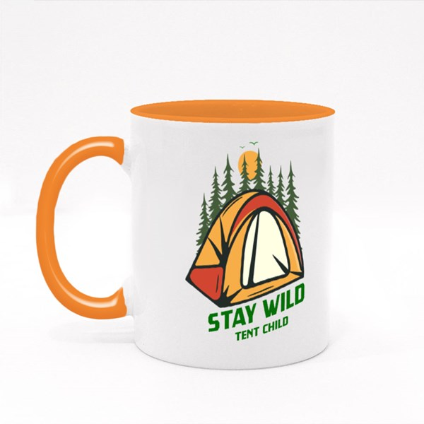 Stay Wild Tent Child Colour Mugs