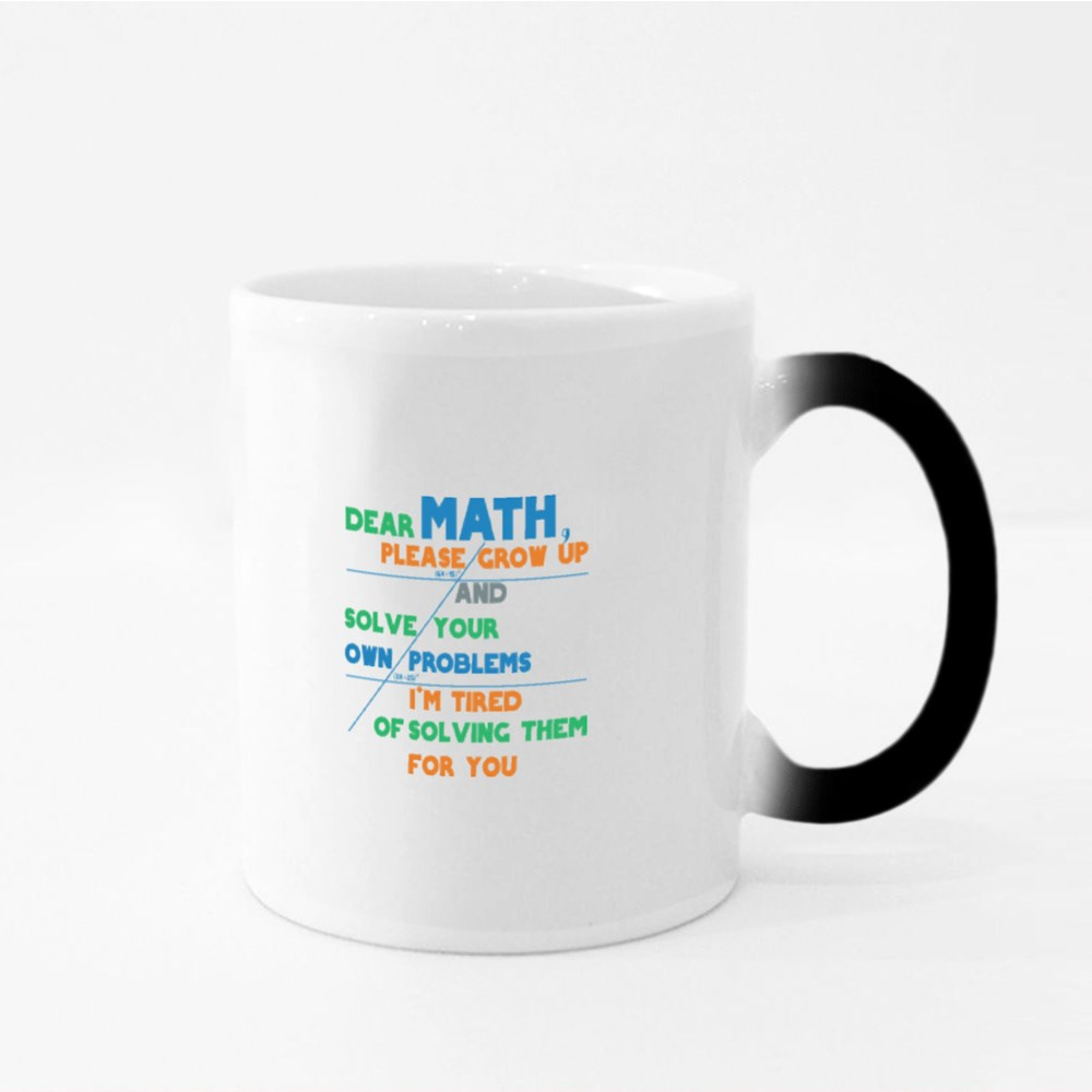 Math Solve Your Own Problem Magic Mugs