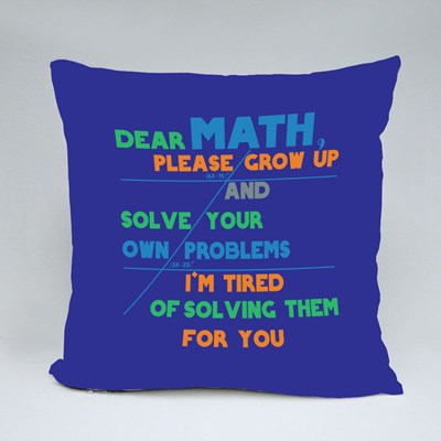 Math Solve Your Own Problem Throw Pillows
