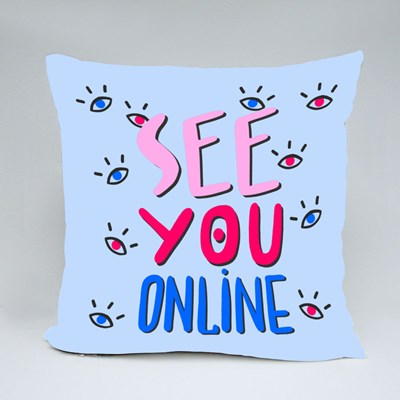 See You Online Wfh Throw Pillows