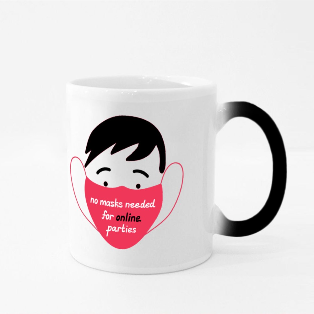 No Masks Needed for Online Parties Magic Mugs