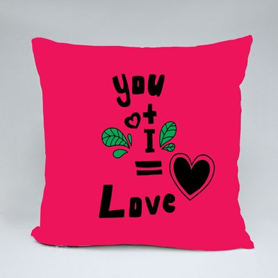 You and I Equals to Love Throw Pillows