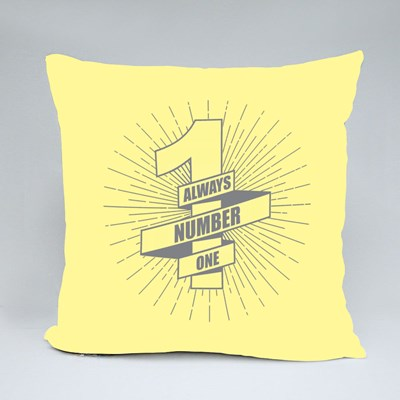 Always Number One Throw Pillows